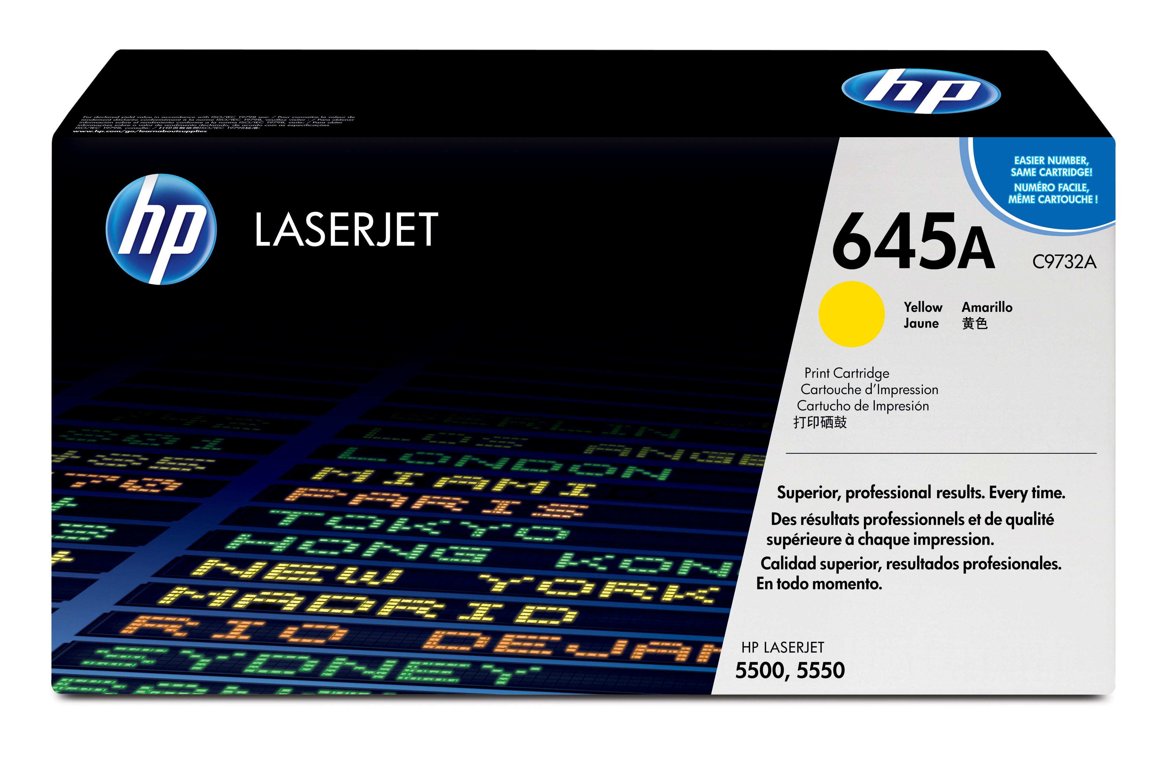 HP 645A Yellow Toner Cartridge C9732A