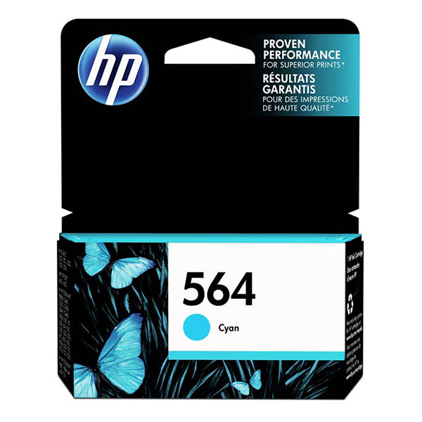 HP 564 Cyan Ink Cartridge CB318WN