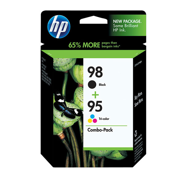 HP 98/99 Black and Tri-Color Ink Cartridges Combo CB327FN, 2/Pack