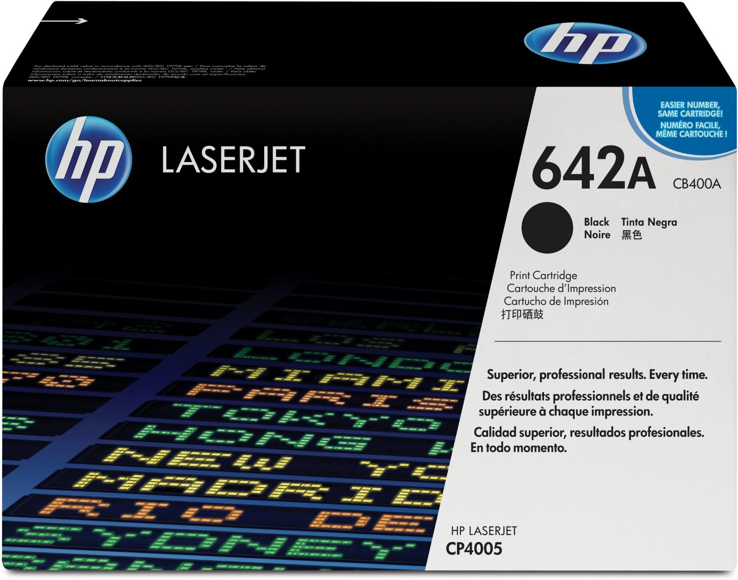 HP 642A Black Toner Cartridge CB400A