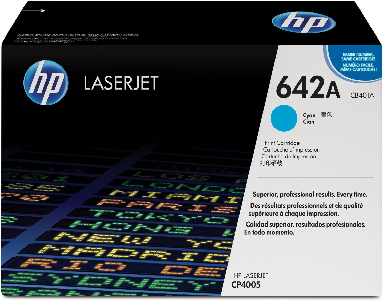 HP 642A Cyan Toner Cartridge CB401A