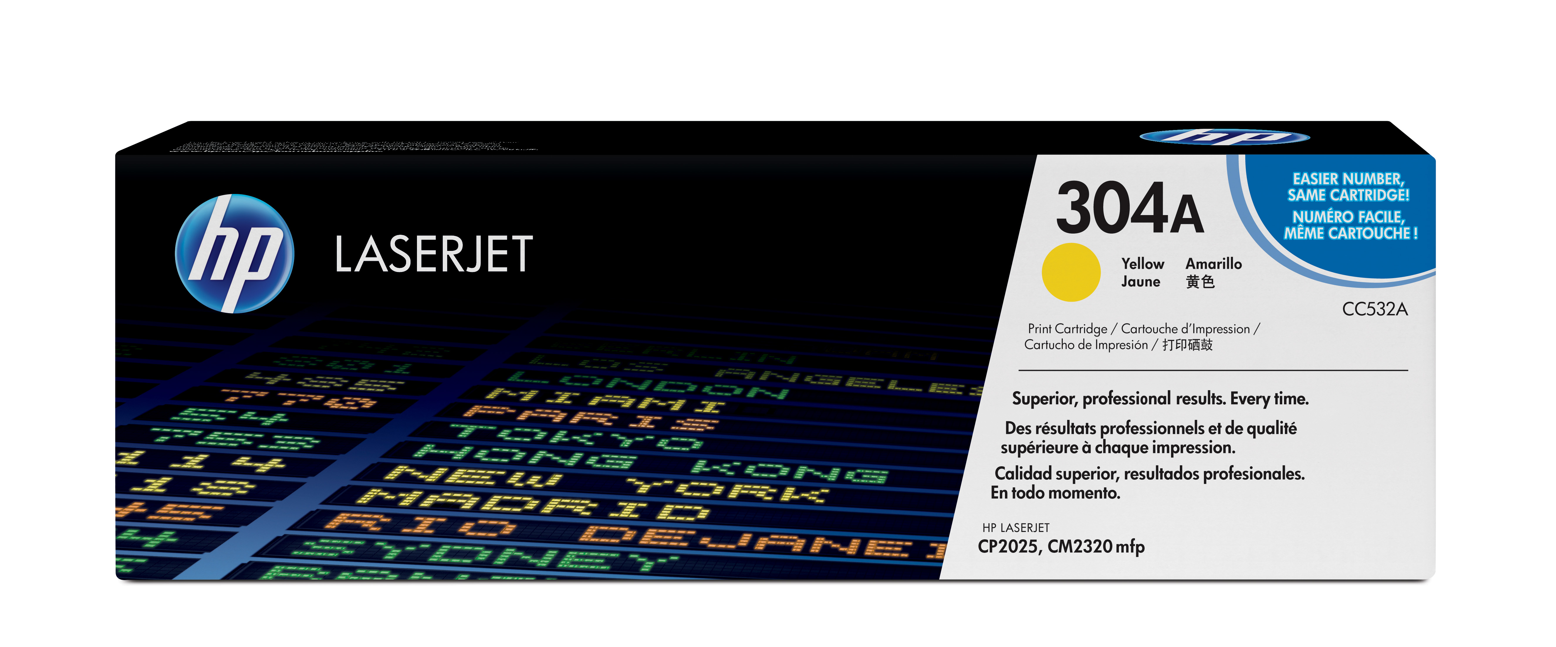 HP 304A Yellow Toner Cartridge,CC532A