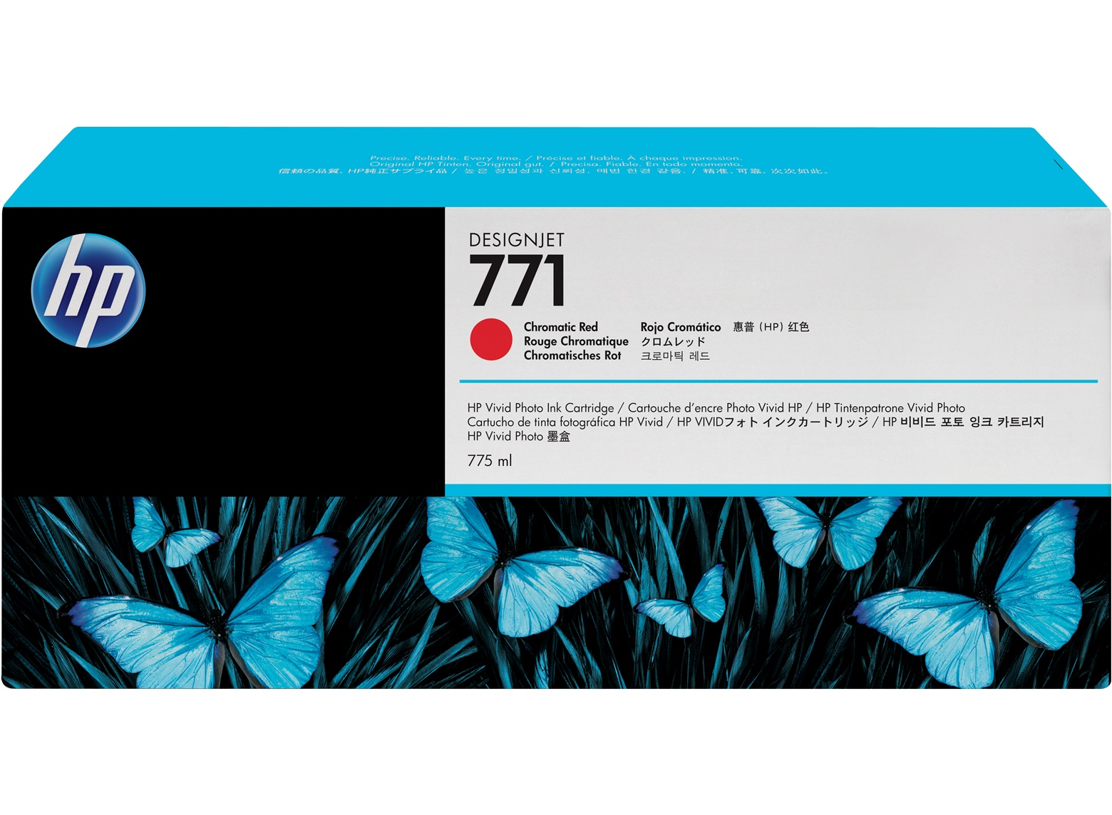 HP 771 Chromatic Red Ink Cartridge CE038A