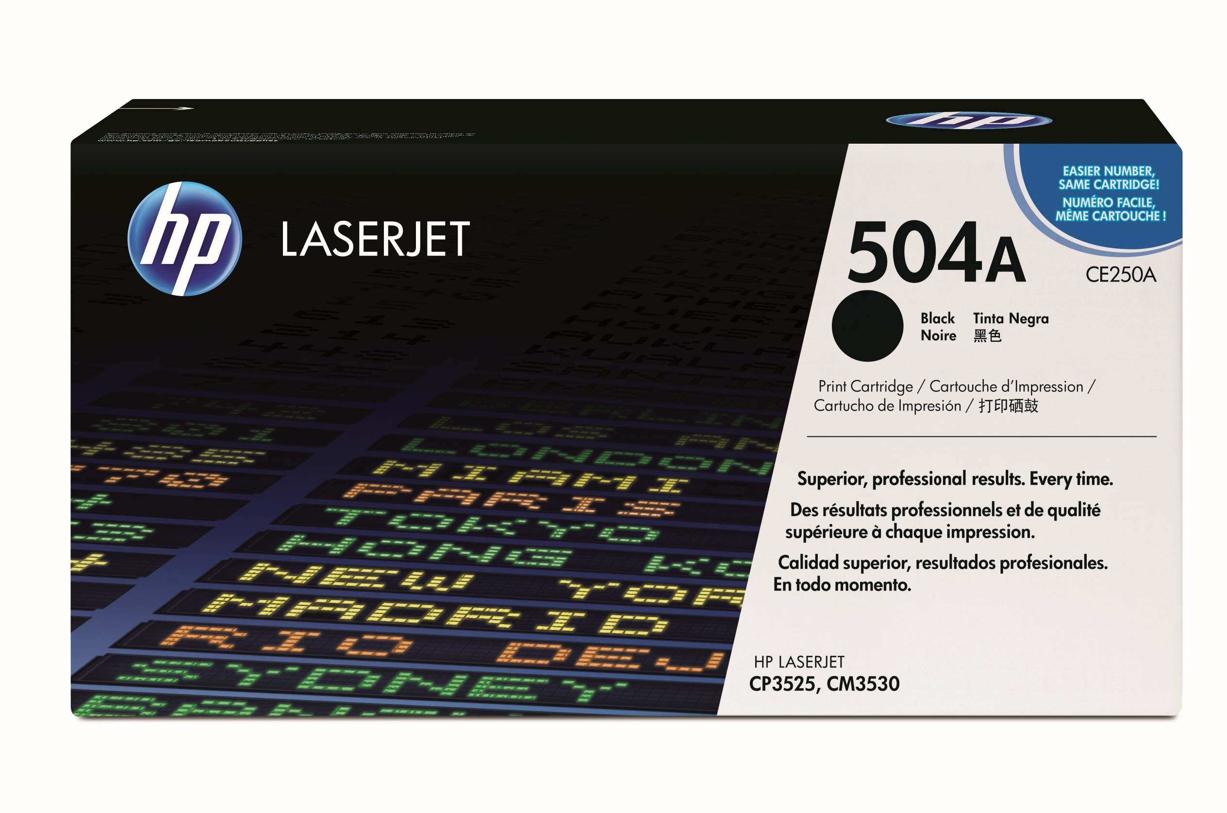 HP 504A Black Toner Cartridge, CE250A