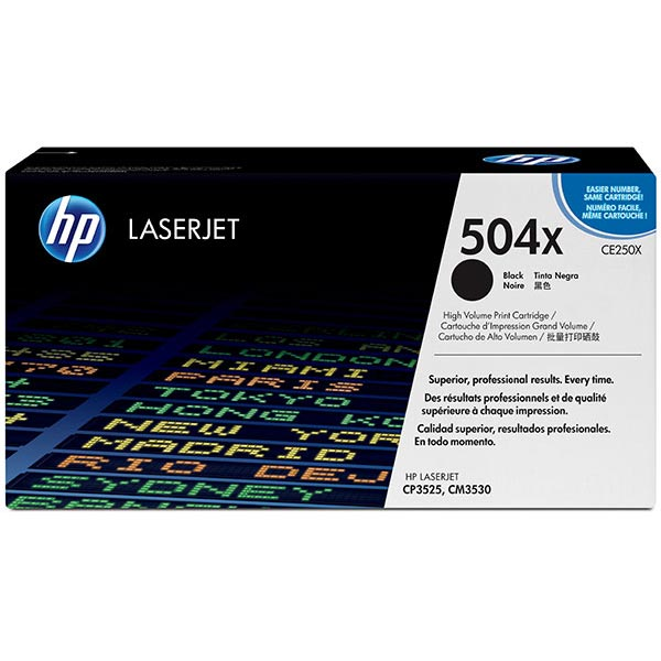 HP 504X Black High Yield Toner Cartridge CE250X