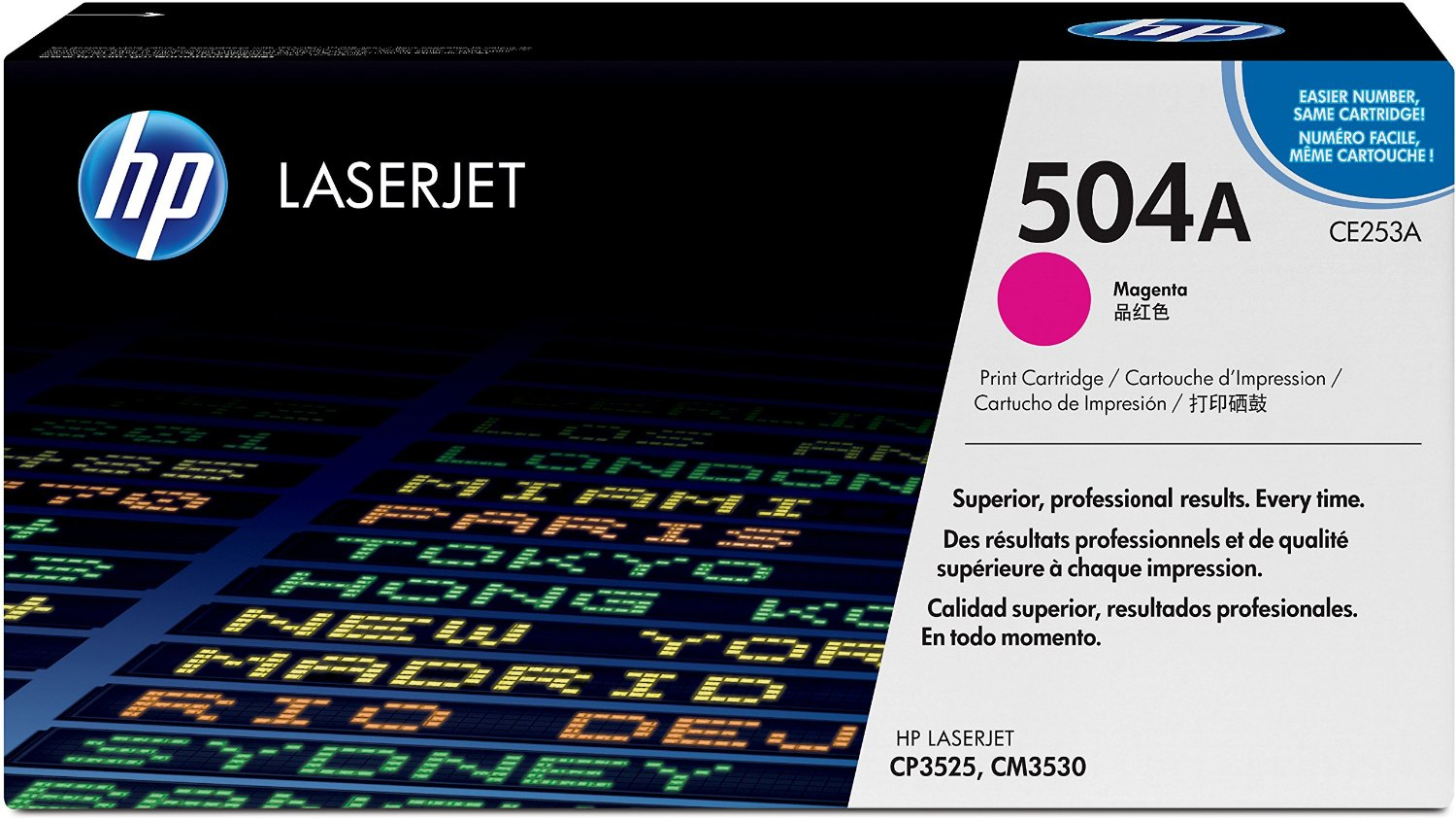 HP 504A Magenta Toner Cartridge, CE253A