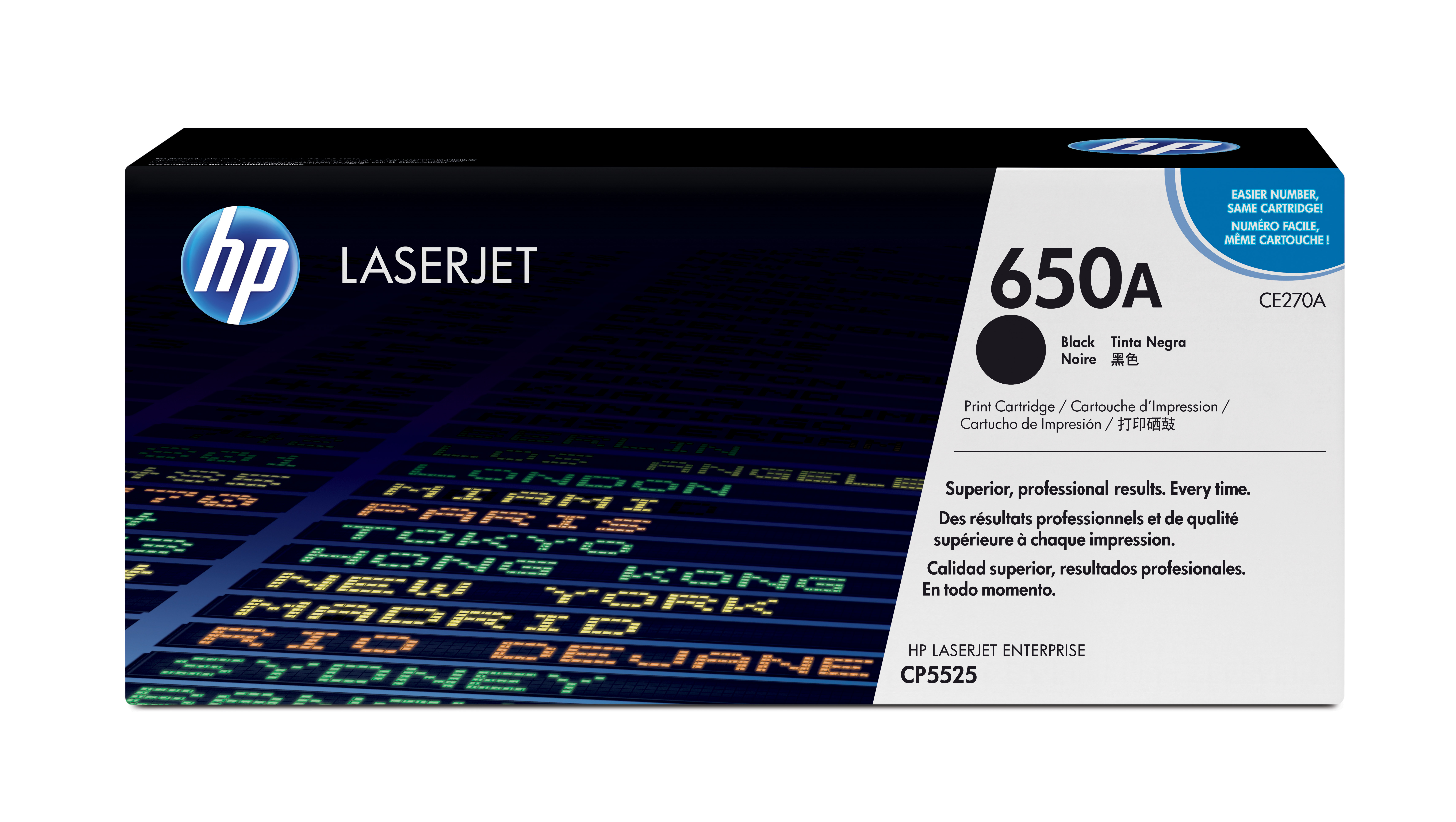 HP 650A Black Toner Cartridge CE270A