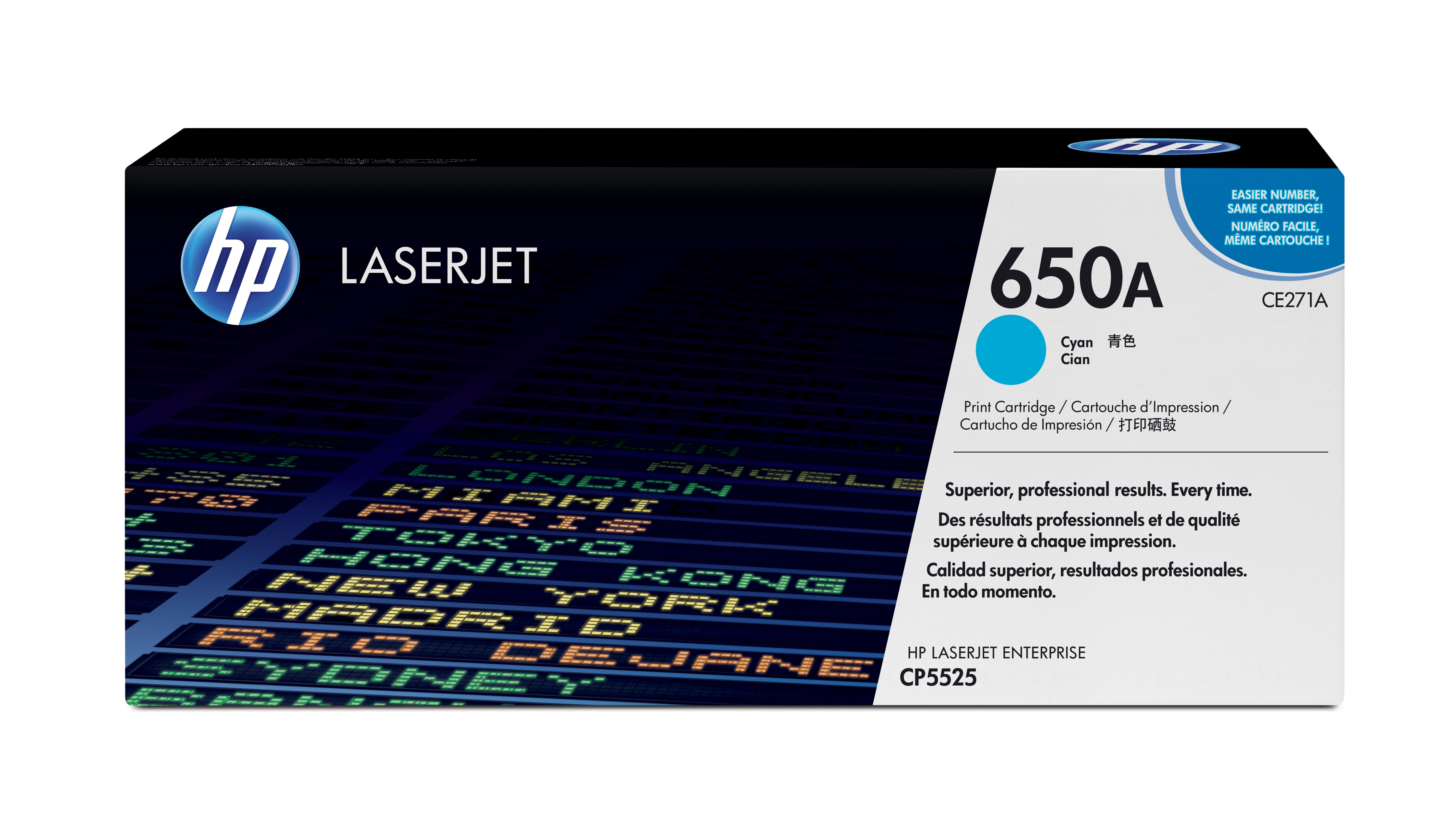 HP 650A Cyan Toner Cartridge CE271A