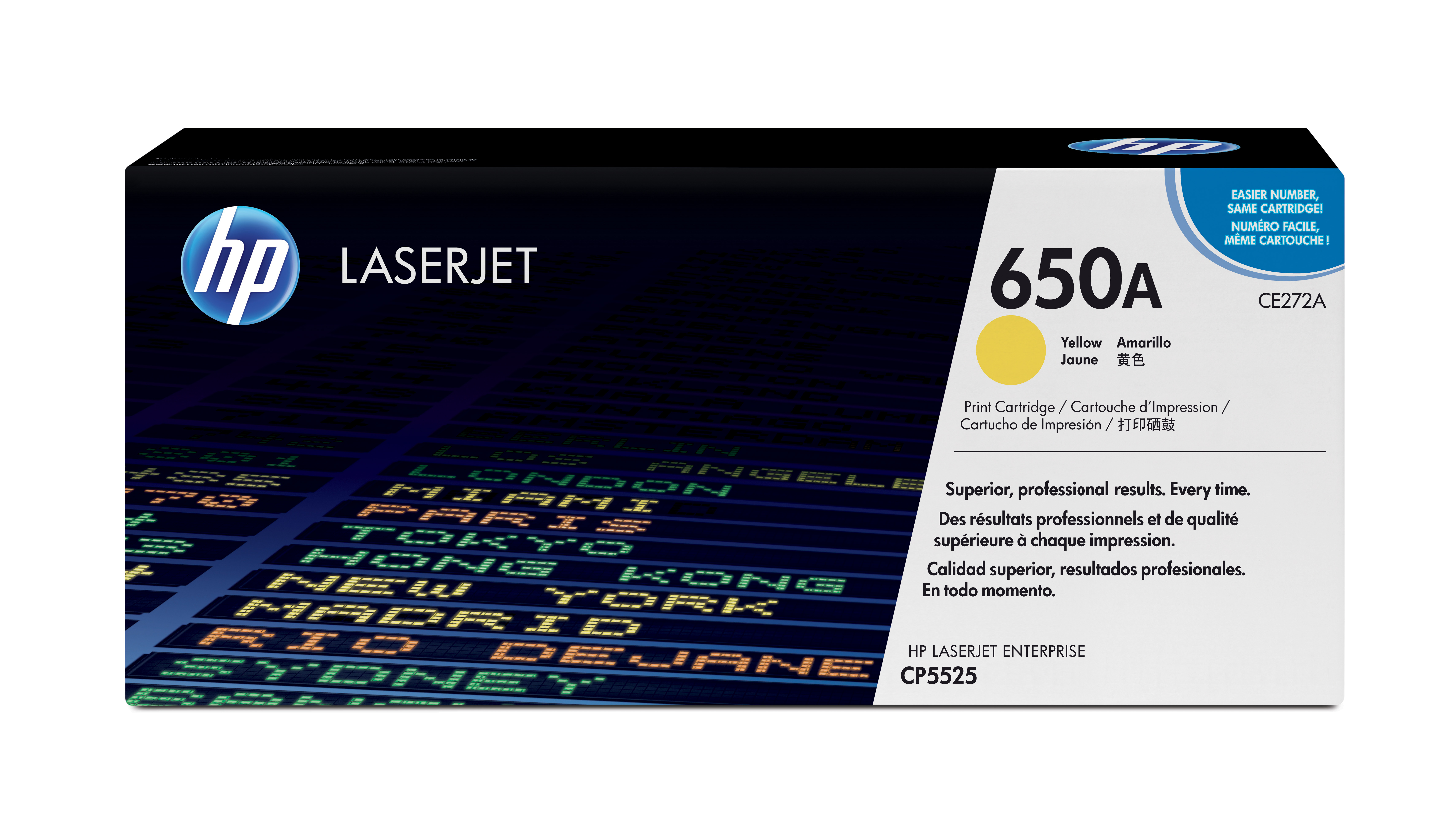 HP 650A Yellow Toner Cartridge CE272A