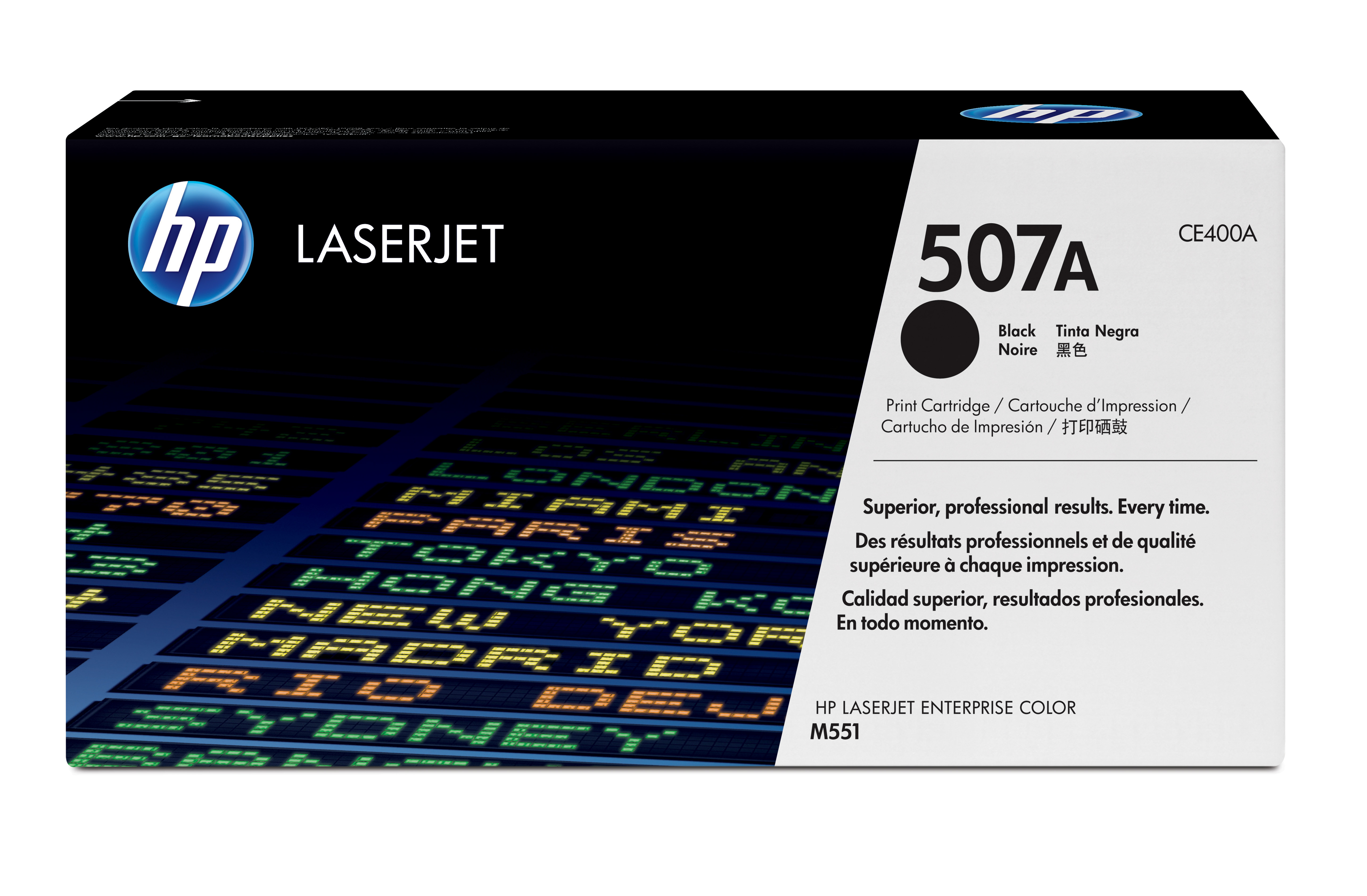 HP 507A Black Toner Cartridge CE400A