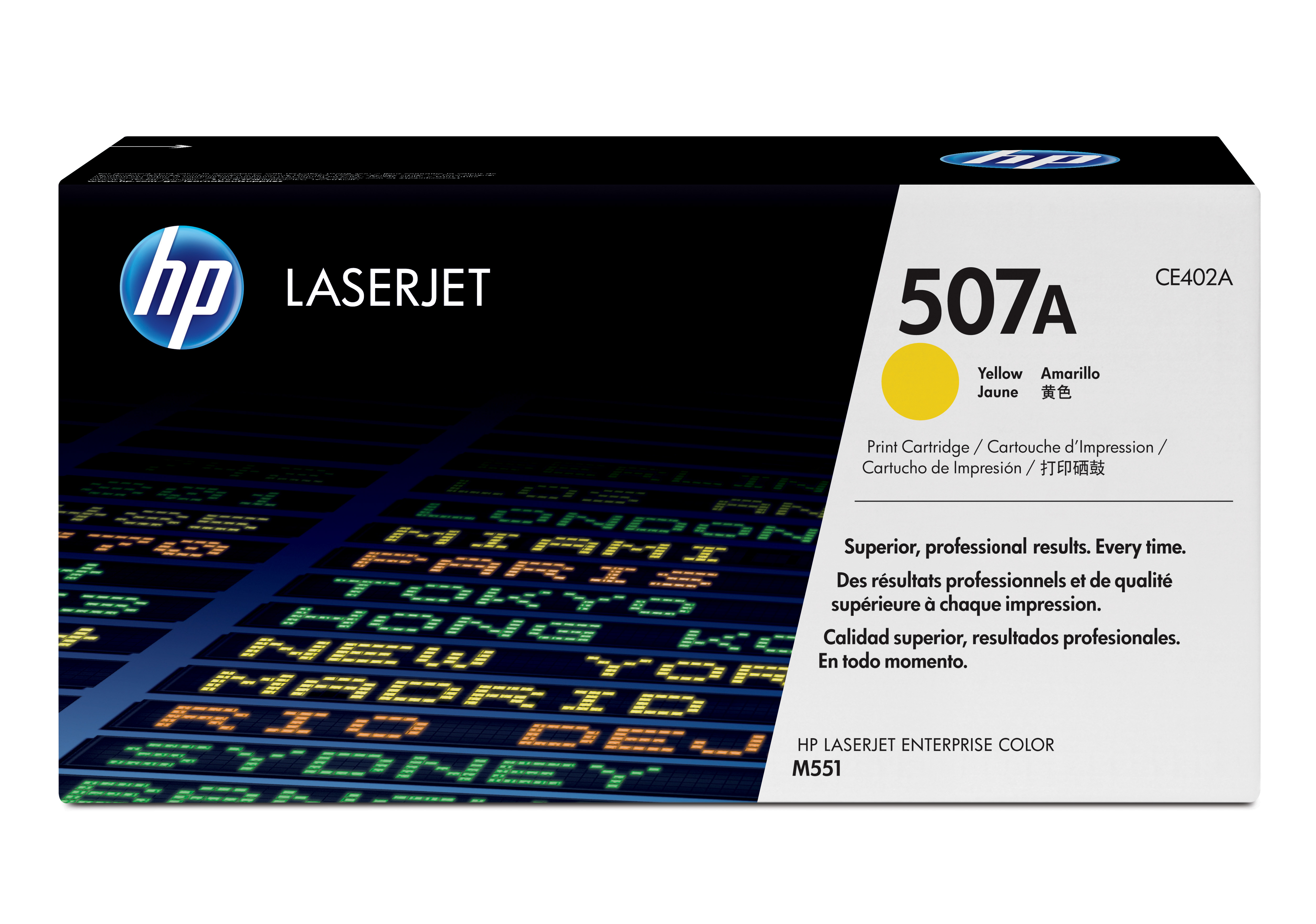 HP 507A Yellow Toner Cartridge CE402A