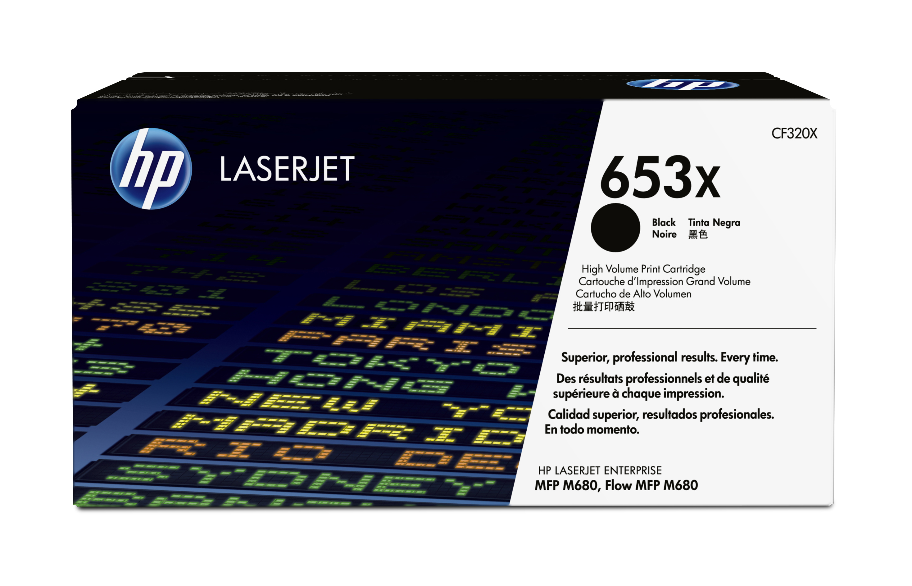 HP 653X Black High Yield Toner Cartridge CF320X