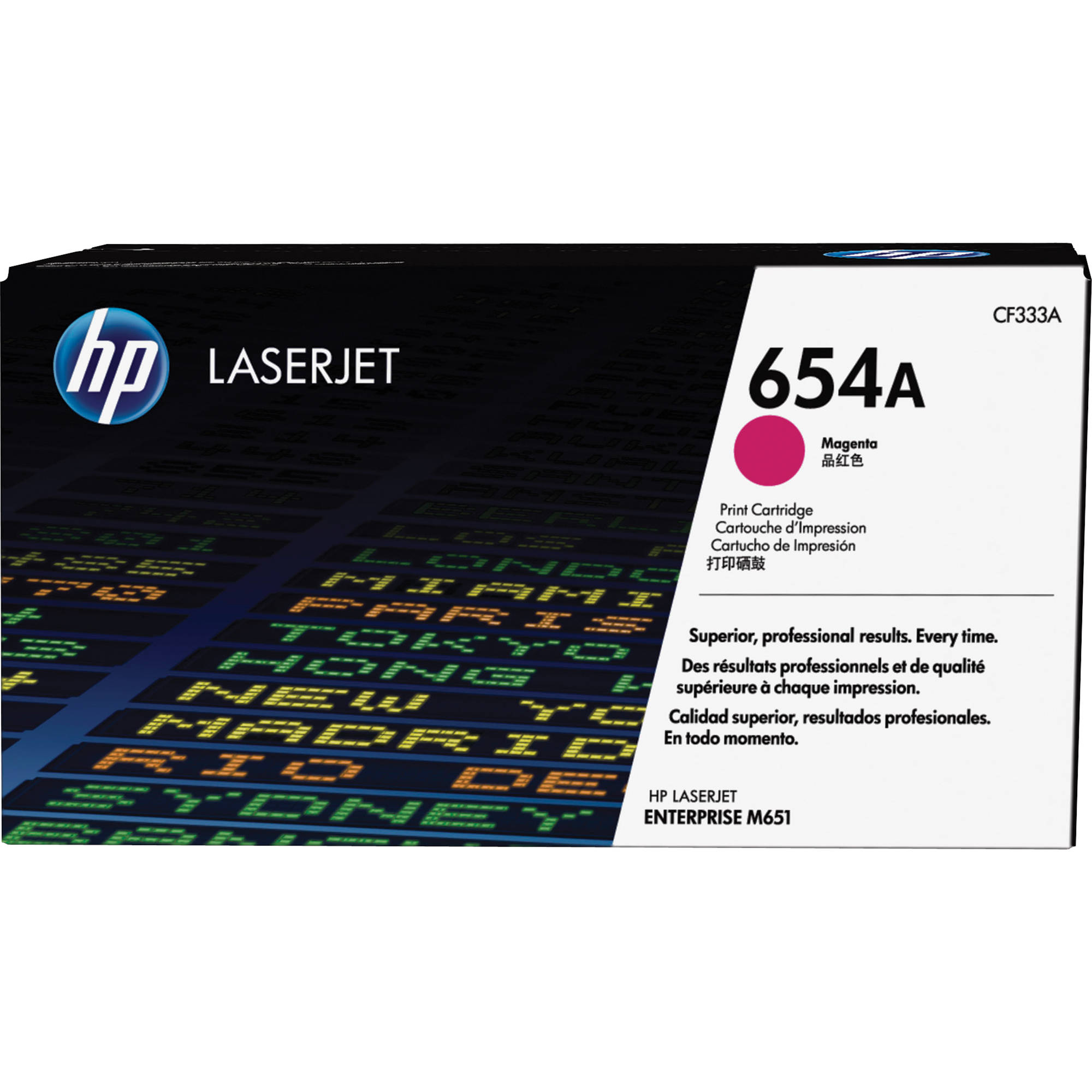 HP 654A Magenta Toner Cartridge CF333A