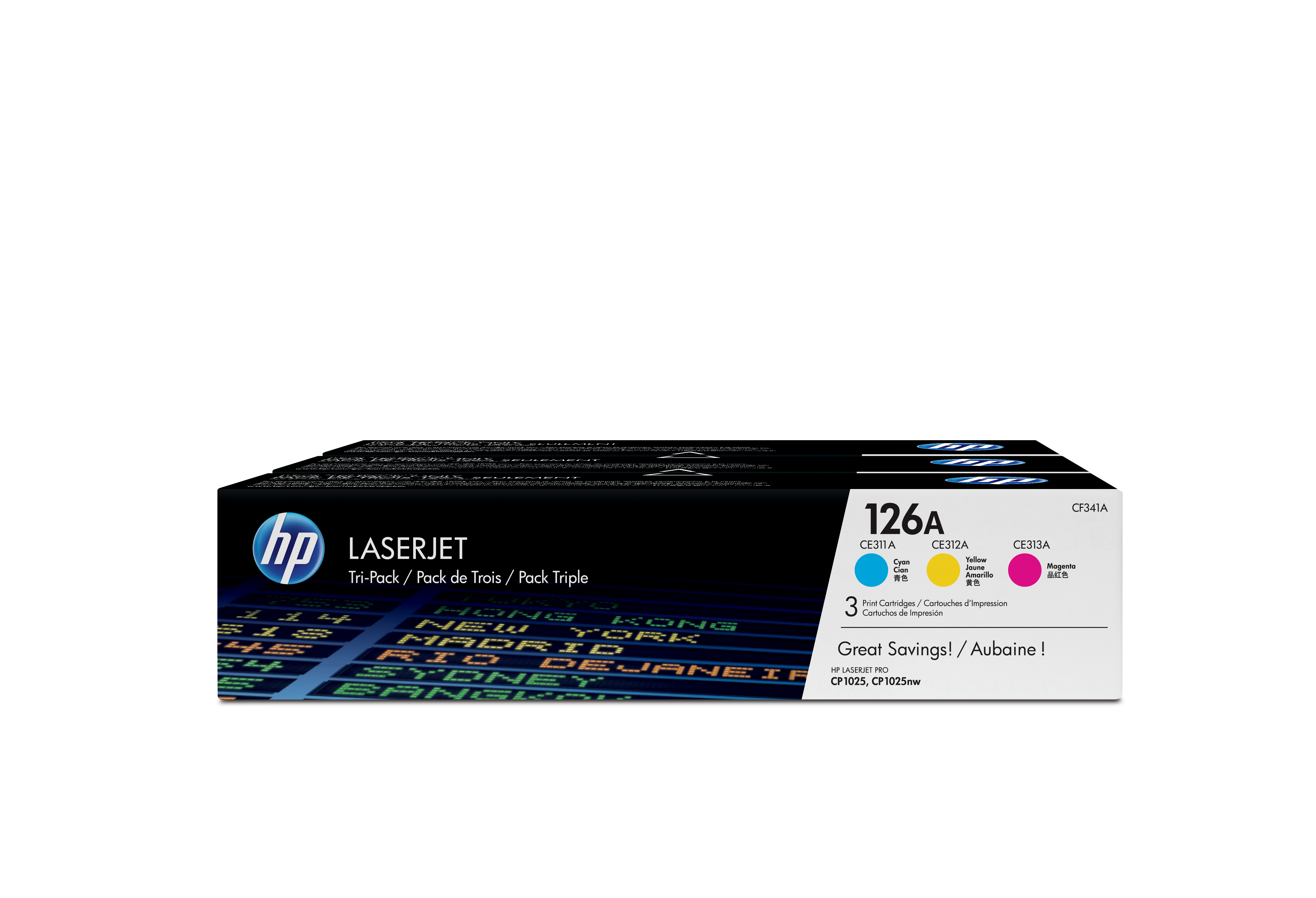 HP Tri Color Value Pack CF341A