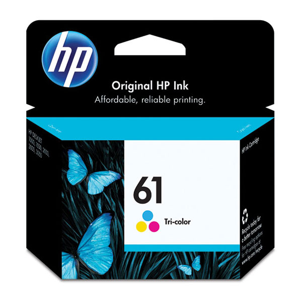 HP 61 HP Tri Color Ink Cartridge CH562WN