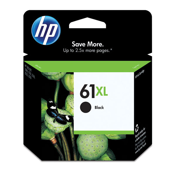 HP 61XL Black High Yield Ink Cartridge CH563WN