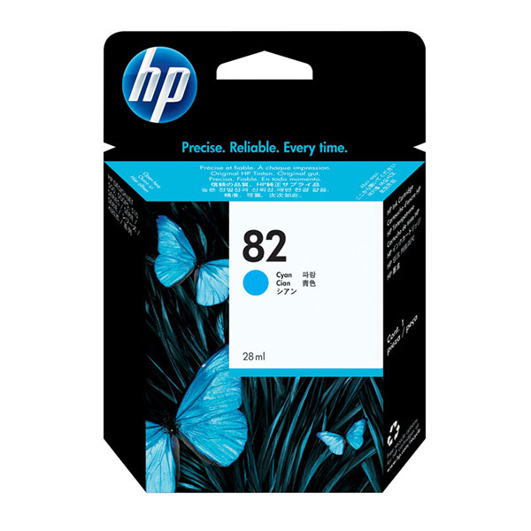 HP 82 Cyan Ink Cartridge CH566A