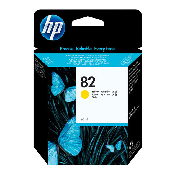 HP 82 Yellow Ink Cartridge CH568A