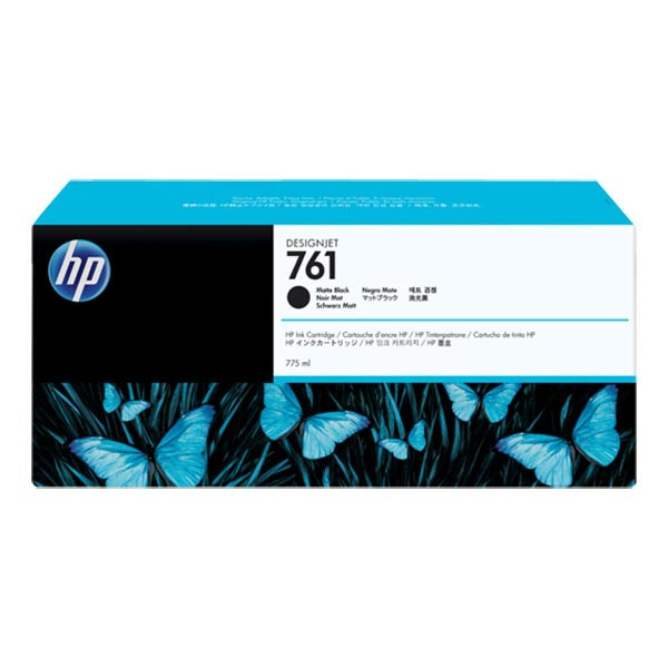 HP 761 Matte Black Extra High Yield Ink Cartridge CM997A