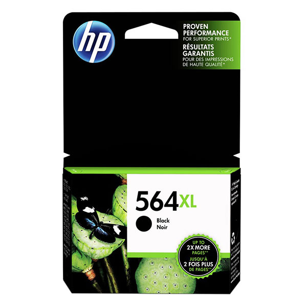 HP 564XL Black High Yield Ink Cartridge CB321WN