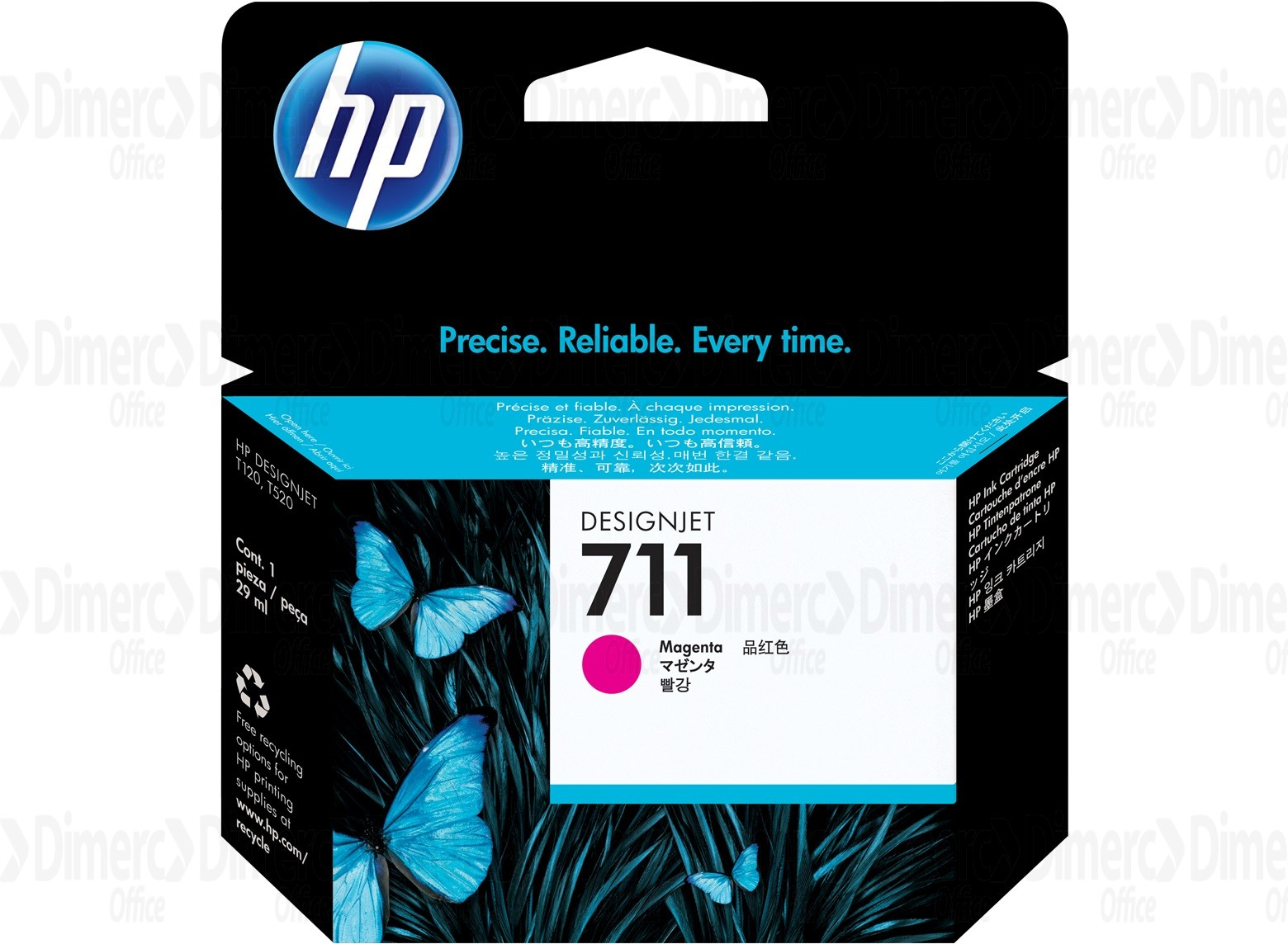 HP 711 Magenta Ink Cartridge CZ131A
