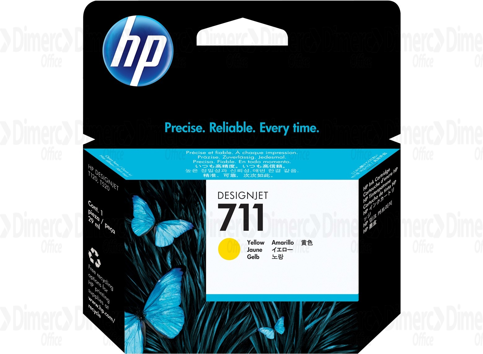 HP 711 Yellow Ink Cartridge CZ132A