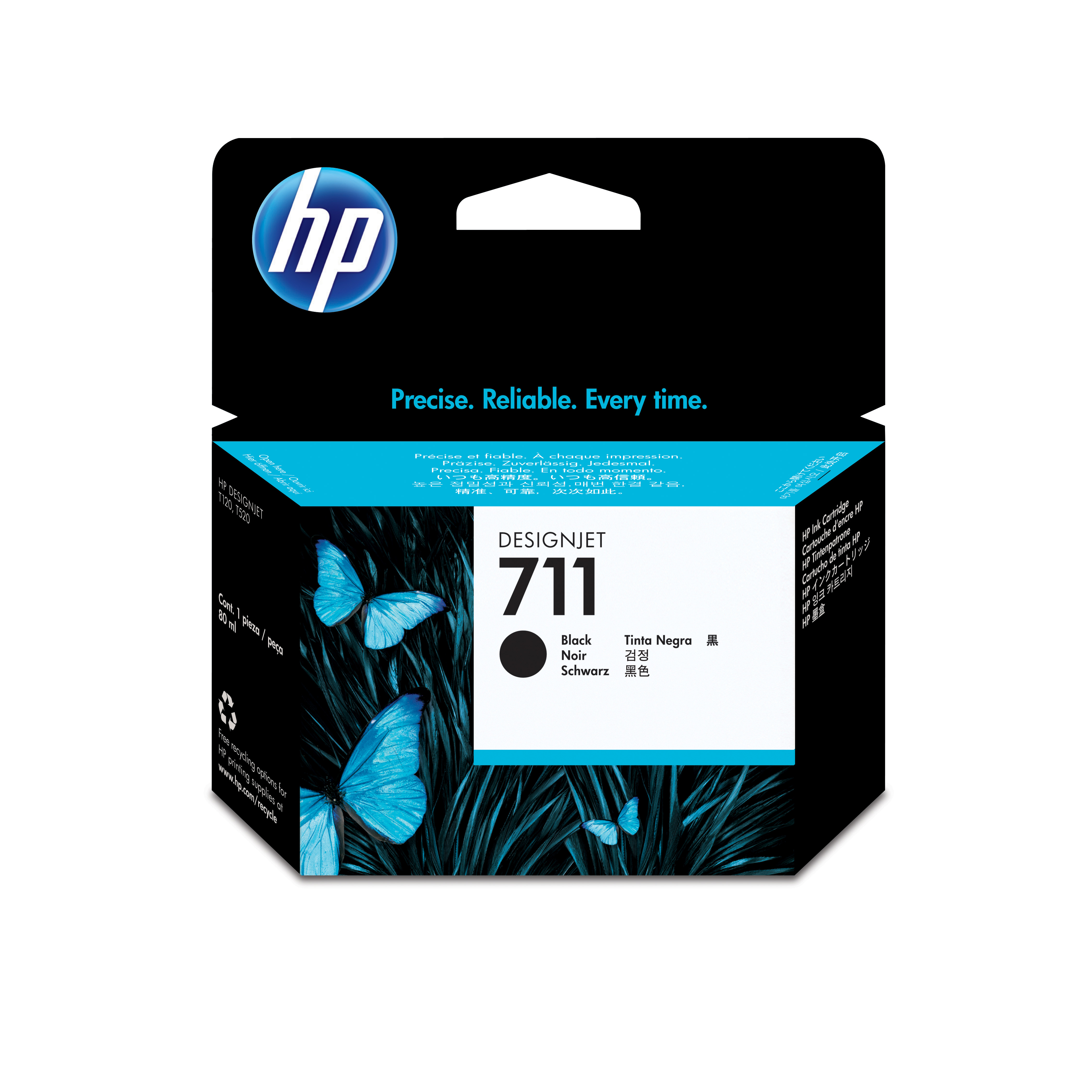 HP 711 Black Ink Cartridge CZ133A