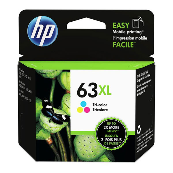 HP 63XL HP Tri Color Ink Cartridge F6U63AN