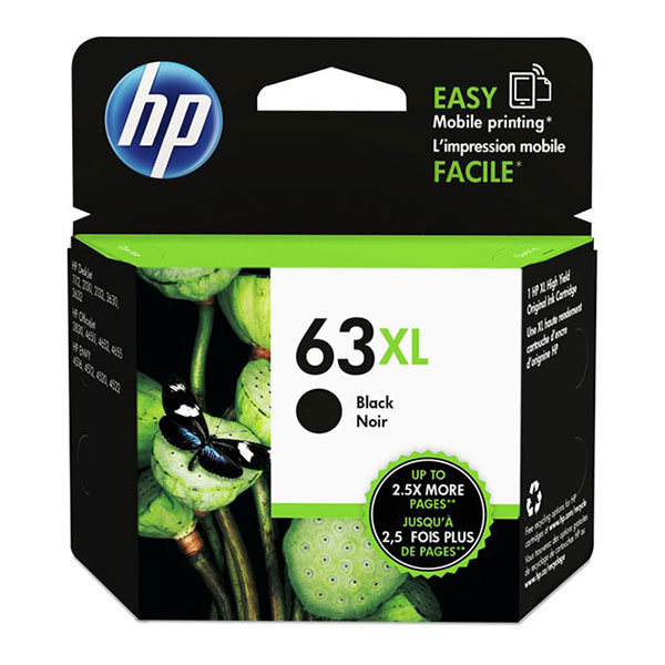 HP 63XL Black High Yield Ink Cartridge F6U64AN