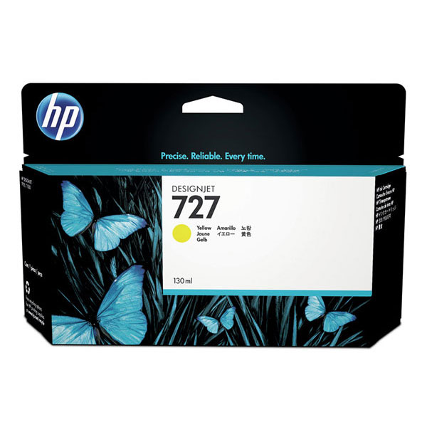 HP 727 Yellow DesignJet Ink Cartridge F9J78A