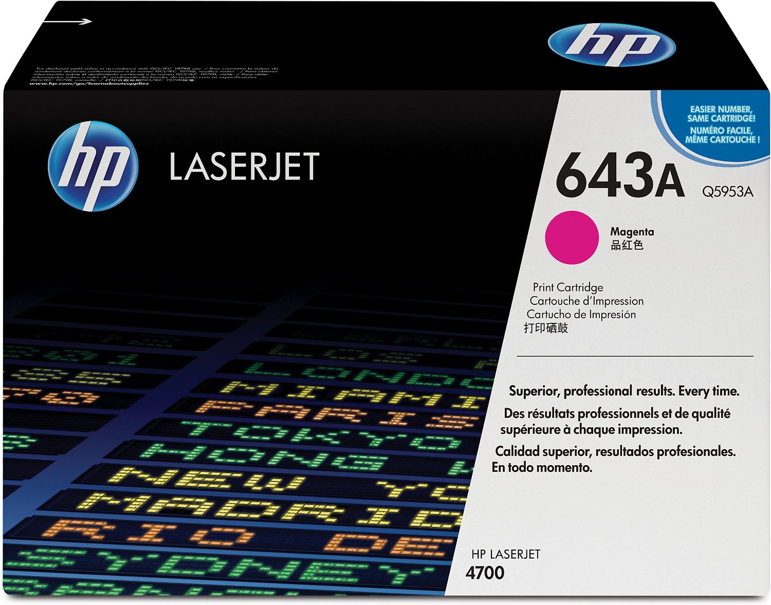 HP 643A Magenta Toner Cartridge Q5953A