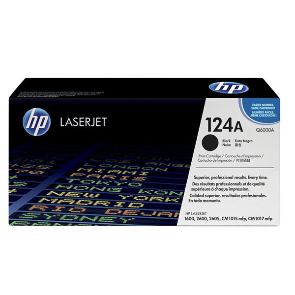 HP 124A Black Ink Cartridge Q6000A