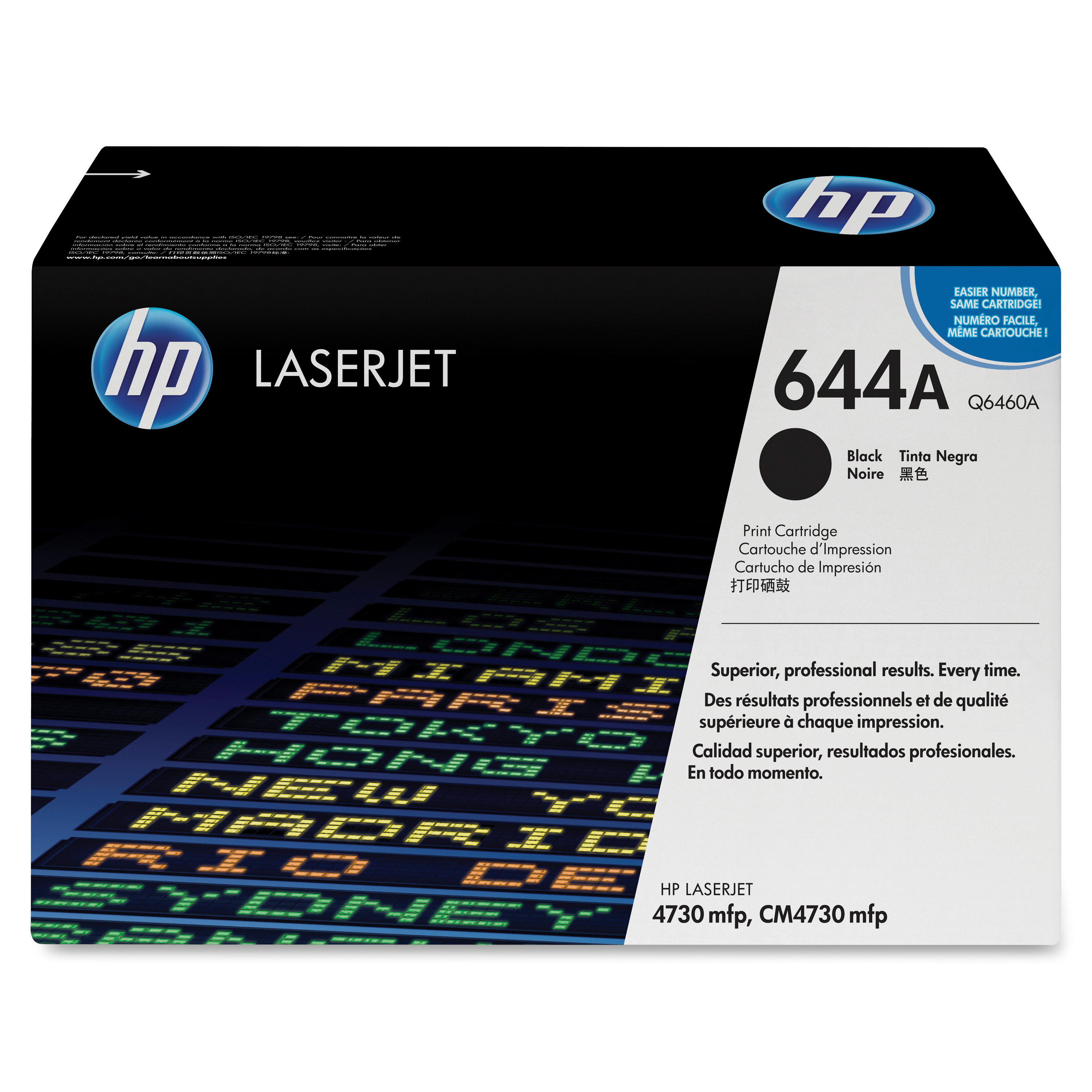 HP 644A Black Toner Cartridge Q6460A