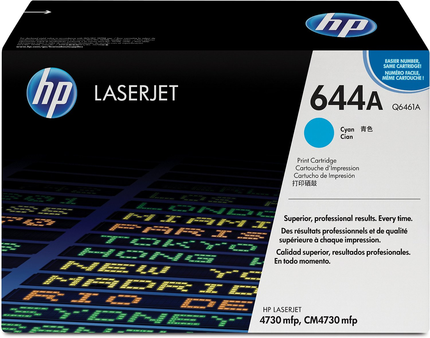 HP 644A Cyan Toner Cartridge Q6461A
