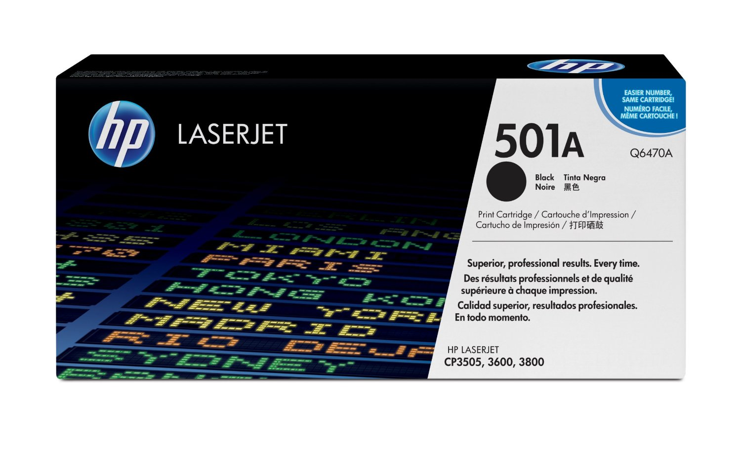 HP 501A Black Toner Cartridge Q6470A