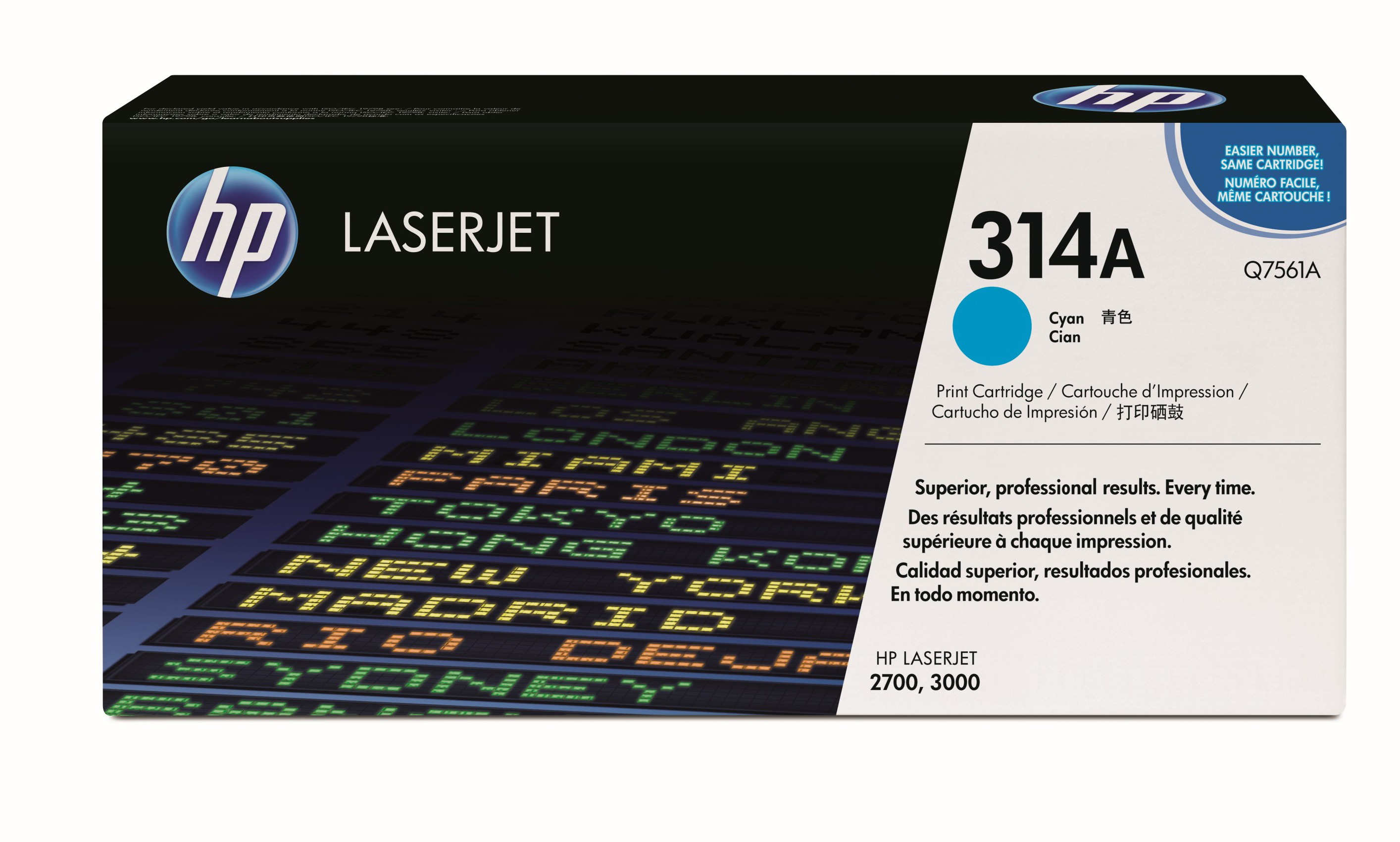 HP 314A Cyan Toner Cartridge Q7561A